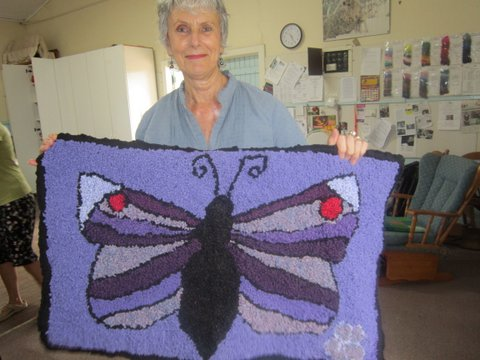 Kaye created this butterfly rug for her daughter.