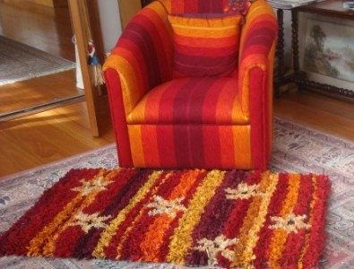 Miriam's rug to match Jacqui's chair
