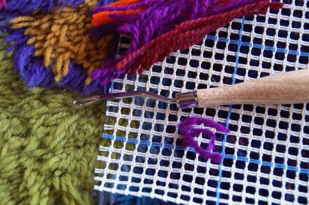 Latch-hooking canvas from Elemental Artspace