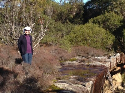 Miriam at top of Miller Falls - Copy