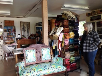 Michele in her studio