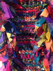 Weaving and rya-knotted rag rug 2002