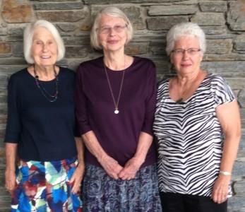 Jacqui Thomson, Miriam Miller & Sybil Mercer in NZ
