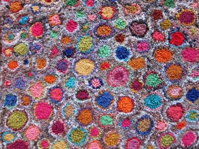 Rag Rug by Kaffe Fassett,  Image courtesy of the Kaffe Fassett Studio