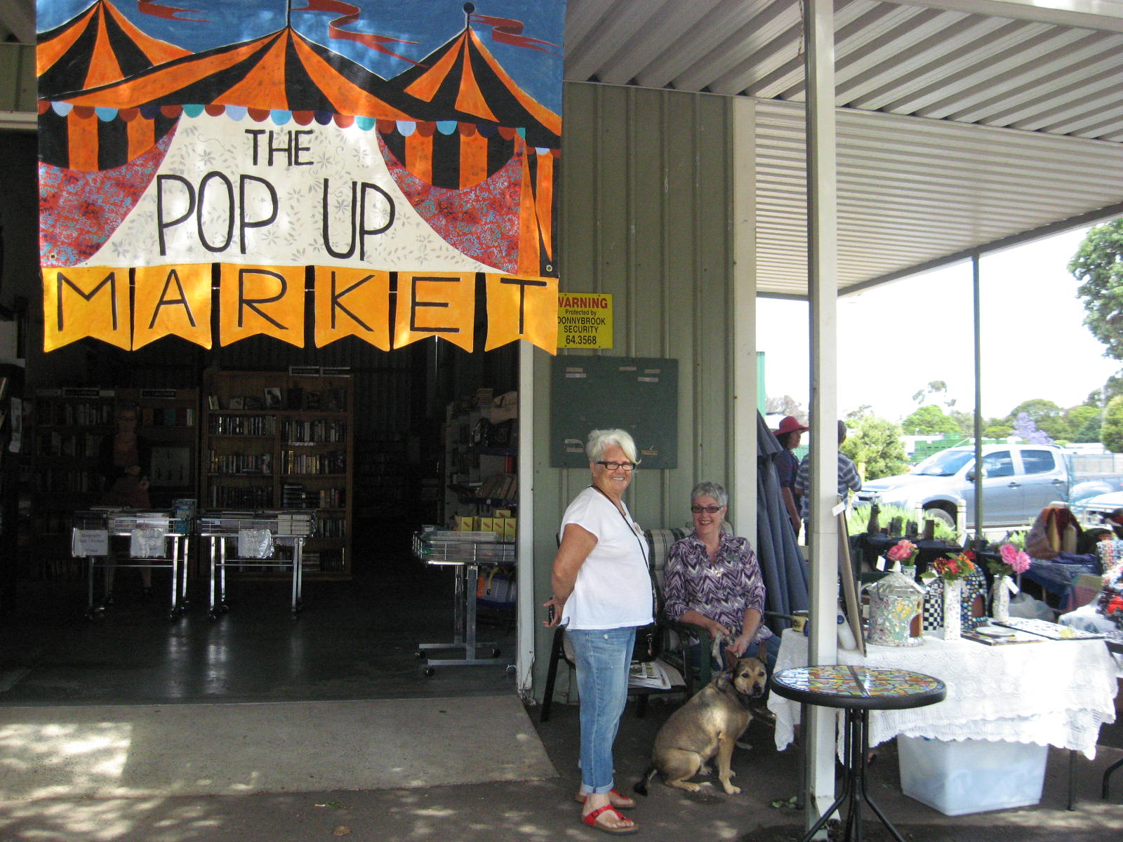 pop upmarket  showing our banner