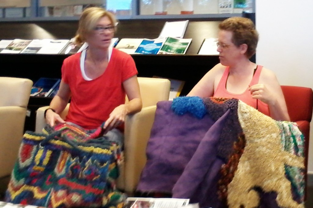 Helen_from_Albany_talking_rugs_with_new_group_member_Wanneroo_West_Australia