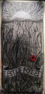 2015ANZAC Commeration designed & hooked by Wanneroo Rugmakers