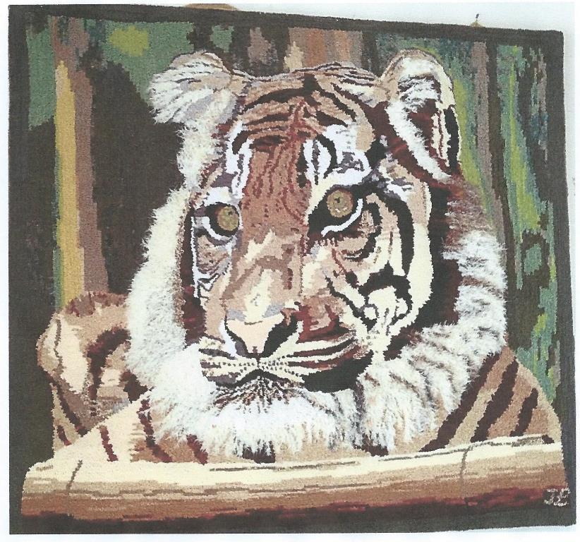 Tiger_designed_hooked_by_Ilka_Landahl_NSW_Australia
