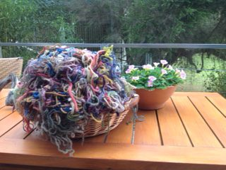 Problem_tangle_of_coloured_wool_strips