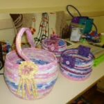 Baskets_by_Ann_Johnston_with Marlene's piano stool cushion in the background