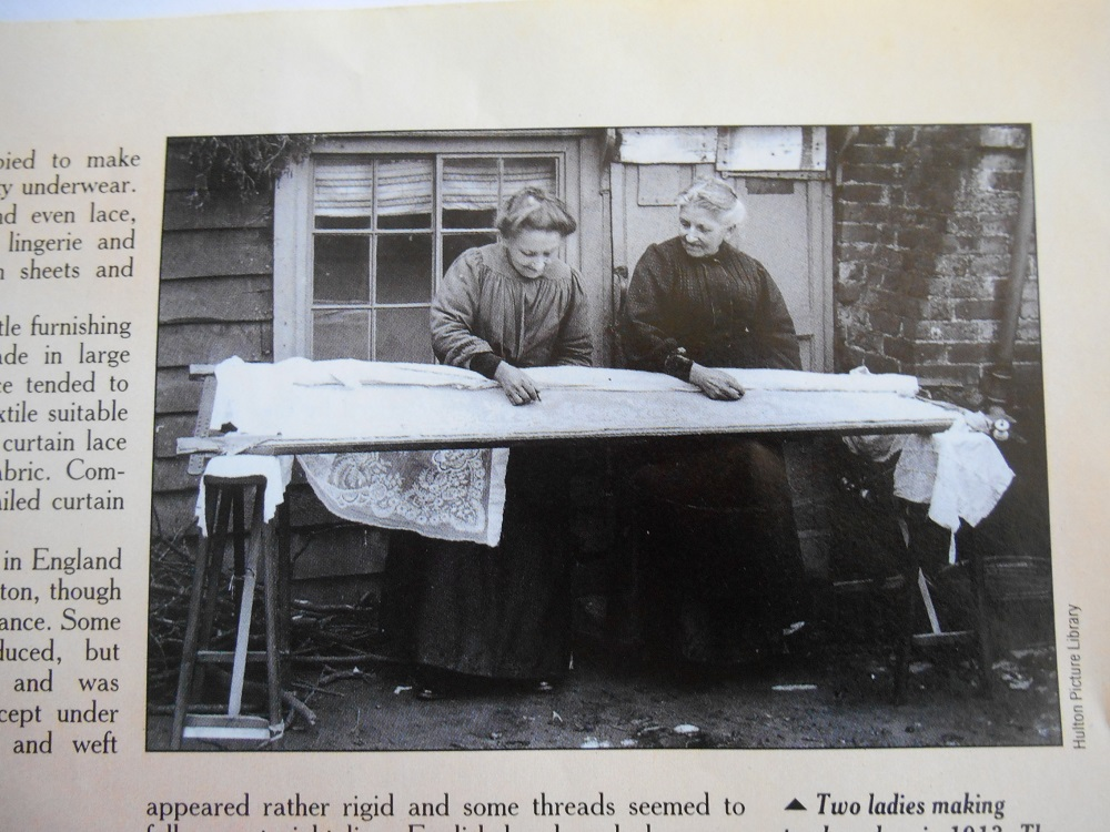This picture came from an article on lace making called - Living Antiques in an old craft magazine, not sure which one